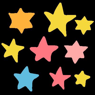 いろいろな星のイラスト | 10秒でざいん.com