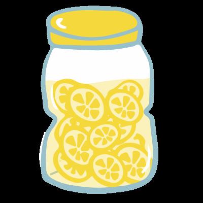 レモンのはちみつ漬けのイラスト | 10秒でざいん.com
